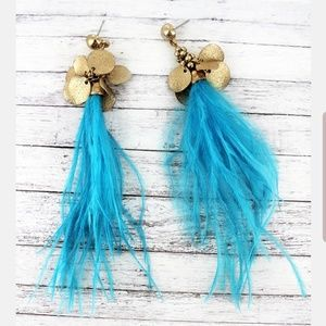 Feather Clustered Earrings